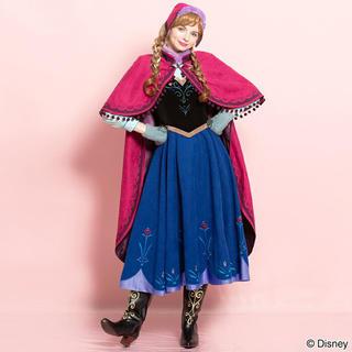 シークレットハニー(Secret Honey)の店舗購入品 アナと雪の女王 雪山アナ ドレス,マント,帽子,手袋セット(衣装一式)