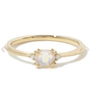 アガット(agete)のk18オパール・ダイヤモンドリング(リング(指輪))