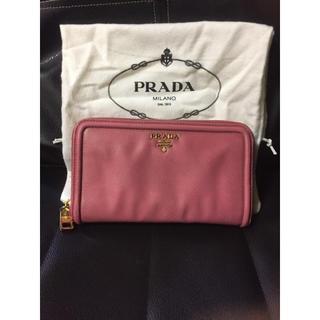 プラダ(PRADA)のPRADA 長財布 ピンク 使用感あり(財布)