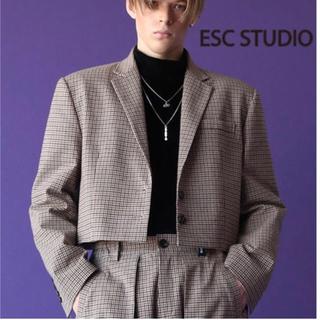 エイトセカンズ(8seconds)のesc studio クロップジャケット(テーラードジャケット)