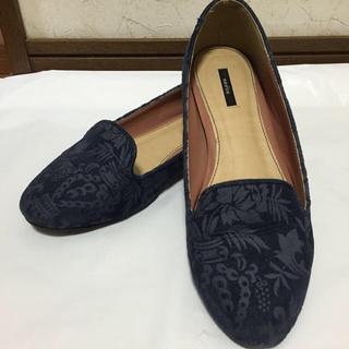 ランダ(RANDA)のRANDA デニム 柄 フラットシューズ(ローファー/革靴)