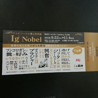 イグ・ノーベル賞展 招待券1枚(美術館/博物館)