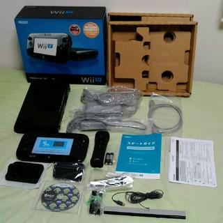 ウィーユー(Wii U)の任天堂wiiuプレミアムセット 32G スプラトゥーン付 正常動作確認済(家庭用ゲーム本体)