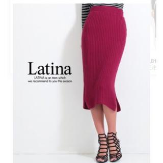 アナップラティーナ(ANAP Latina)の新品タグ付き♡ANAPリブニットタイトスカート(ひざ丈スカート)