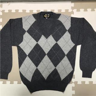 セイブヒャッカテン(西武百貨店)のアーガイル柄セーター ニット カシミア100パーセント(ニット/セーター)