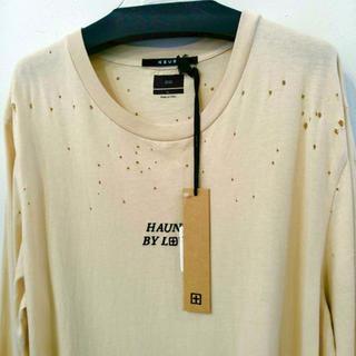 スビ(ksubi)のKSUBI 17SS ダメージ加工 ビッグ 長袖カットソー  XL ベージュ(Tシャツ/カットソー(七分/長袖))