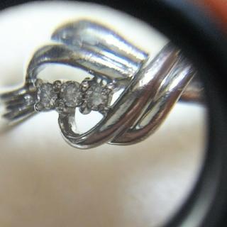 シチズン(CITIZEN)のpt900デザインダイヤリング(リング(指輪))