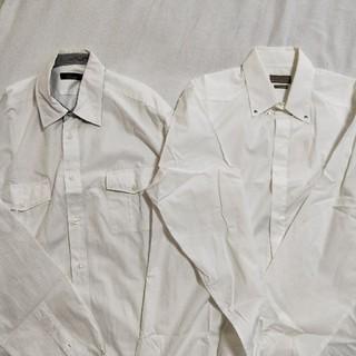 ZARA - zara 白ワイシャツ二枚 ユーティリティとボタンダウン