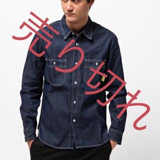 ライトオン(Right-on)の◎【WORLDWORKERS】ワーカーシャツ(ネイビー/ライトブルー)(シャツ)