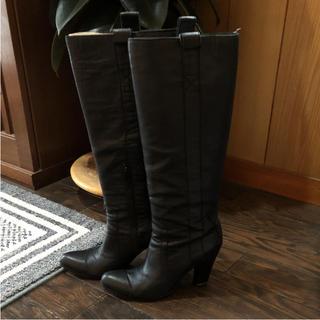 ナチュラルビューティーベーシック(NATURAL BEAUTY BASIC)の再値下げナチュラルビューティ 豚皮ロングブーツ 24.5(ブーツ)