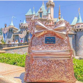 Disney - ラウンジフライ ローズゴールド リュック♪ カリフォルニア ディズニー