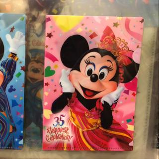 Disney - 35周年 ミニー クリアファイル