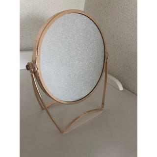 フランフラン(Francfranc)のフランフラン ミラー 拡大鏡 ゴールド(卓上ミラー)