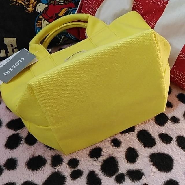 しまむら(シマムラ)の処分値下げ!ラスト1点 大人気!!倉敷キャンバス イエロー 新品 レディースのバッグ(トートバッグ)の商品写真