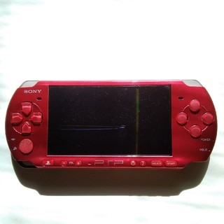 PlayStation Portable - PSP3000  レッド 本来のみ 保護フィルム付 ジャンク
