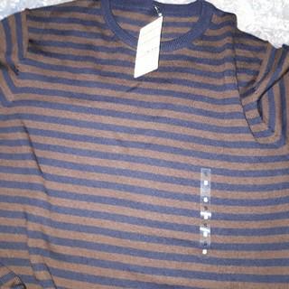 ムジルシリョウヒン(MUJI (無印良品))の無印 ボーダークルーネックセーター Sサイズ(ニット/セーター)