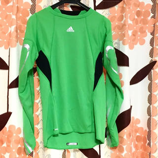 アディダス(adidas)のトレーニングシャツ 長袖 ロンT 長袖Tシャツ 緑 アディダス レディース(Tシャツ(長袖/七分))
