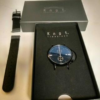 ノット(KNOT)のknot 腕時計 クロノグラフ(腕時計(アナログ))