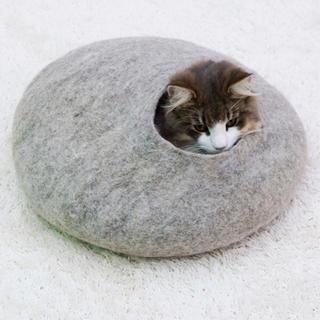キャットハウス 猫 ハウス ウールフェルトポッド ドギーマン