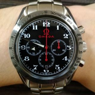 オメガ(OMEGA)のOMEGAオメガスピードマスターブロードアロー自動巻きメンズ時計3558.50(腕時計(アナログ))