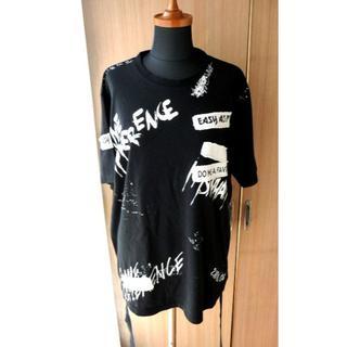 グラッサム(GRASUM)のGRASUM グラッサム 黒 T ベルト 韓国 ジードラゴン系 メンズ 109(Tシャツ/カットソー(半袖/袖なし))