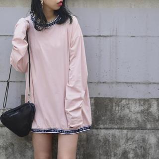 ハニーミーハニー(Honey mi Honey)のハニーミーハニー elastic logo ロンT ピンク(Tシャツ(長袖/七分))
