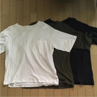 MUJI (無印良品) - muji  ビッグシルエットTシャツ 3枚セット