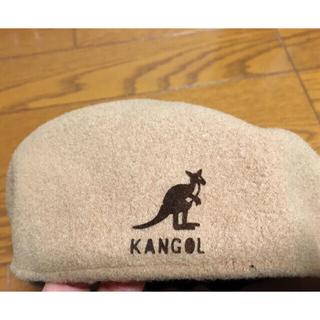 カンゴール(KANGOL)のカンゴール ハンチング 美品ベージュ 帽子(ハンチング/ベレー帽)