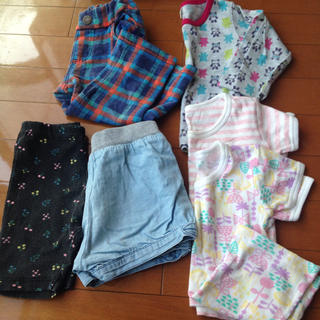 シマムラ(しまむら)の80の洋服6点セット ショートパンツ 長ズボン ロンT セット 女の子(パンツ)