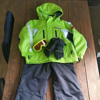 POCKET BEAR  ライムグリーン スキーウエアーセット size 130(ウエア/装備)