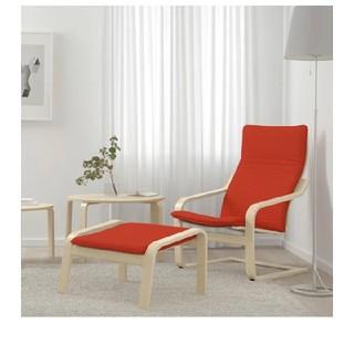 イケア(IKEA)のIKEA ポエング&オットマン(ロッキングチェア)
