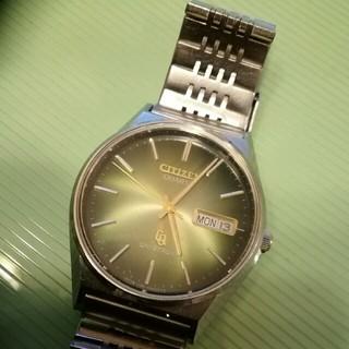 シチズン(CITIZEN)のシチズンクリストロン クォーツ グリーン文字盤 ヴィンテージ(腕時計(アナログ))