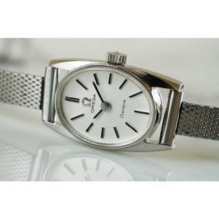 オメガ(OMEGA)の美品 オメガ ジュネーブ オーバル シルバー 手巻き レディース Omega(腕時計)