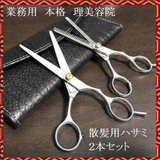業務用 本格 理美容院  散髪用ハサミ2本セット