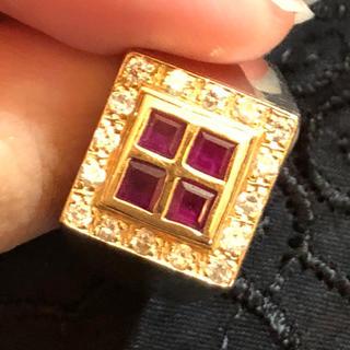 指輪 ジュエリー ルビー ダークルビー プラチナ900台(リング(指輪))
