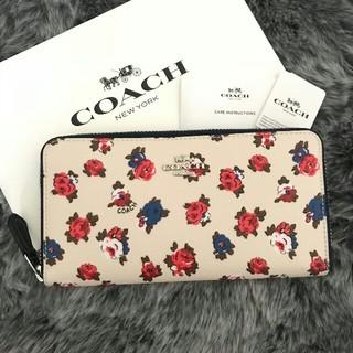コーチ(COACH)の新品☆COACH(コーチ)ホワイト 花柄 フローラル 長財布(財布)