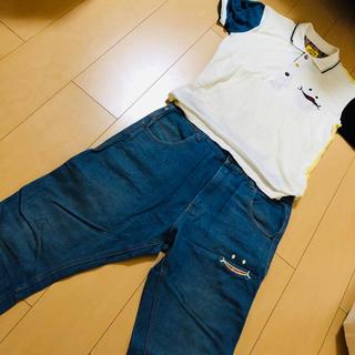 アップスタート(UPSTART)のUP SMILE ポロシャツ &UP START ジーパン コーデセット(デニム/ジーンズ)