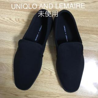 ユニクロ(UNIQLO)のUNIQLO AND LEMAIRE キャンバス スリッポン ブラック 23.5(スリッポン/モカシン)