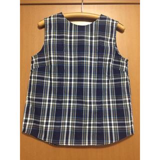 ジーユー(GU)の【GU】チェックバックボタンブラウス Lサイズ(シャツ/ブラウス(半袖/袖なし))