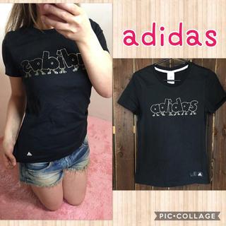 アディダス(adidas)のadidas♡新品ブラックTシャツ♡S(Tシャツ(半袖/袖なし))