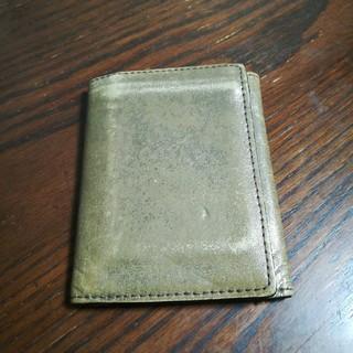 グレンロイヤル(GLENROYAL)のGLENROYAL ゴールド折り財布 (折り財布)