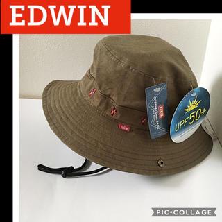 エドウィン(EDWIN)の新品 カーキ アドベンチャーハット メンズ レディース  uv アウトドア(ハット)