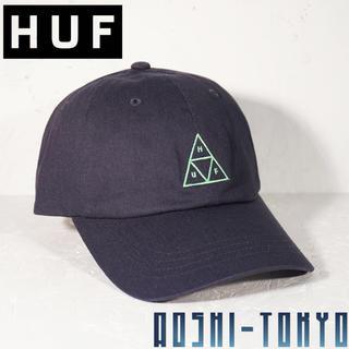 ハフ(HUF)の◆HUF Triple Triangle カーブ キャップ /ネイビー(キャップ)