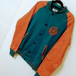 ジャケット ブルゾン ブルー×オレンジ