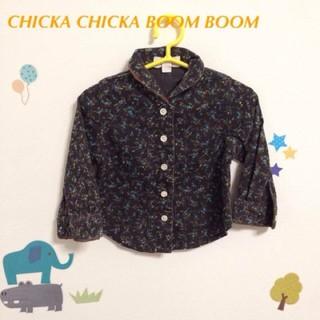チッカチッカブーンブーン(CHICKA CHICKA BOOM BOOM)の【80】チッカチッカブーンブーン長袖 花柄 ブラウス(シャツ/カットソー)