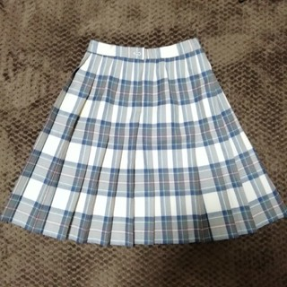 ザスコッチハウス(THE SCOTCH HOUSE)のスコッチハウス ウールチェックスカート 13Y4(ひざ丈スカート)
