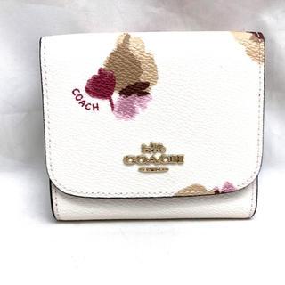 コーチ(COACH)のCOACH コーチ フローラル 折り財布 F53758 チョーク マルチ(財布)