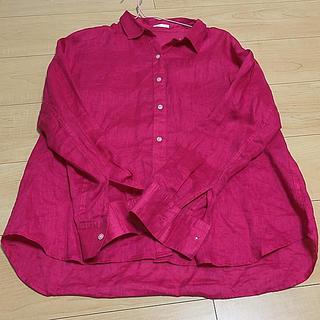 ジーユー(GU)のGU シャツ ビビッドピンク M(シャツ/ブラウス(半袖/袖なし))