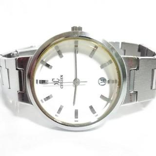 シチズン(CITIZEN)の良品 シチズン クロスシー XC 白 電池新品 ベルト洗浄済み 完動品(腕時計)