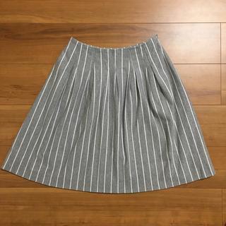エムズグレイシー(M'S GRACY)のエムズグレイシー ストライプ スカート 38(ひざ丈スカート)